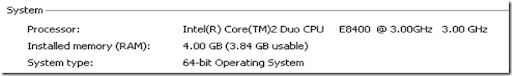 Dell Desktop Hardware Configuration