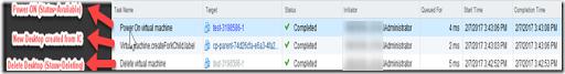 vCenter Task Delete - Customizing - Available
